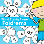 Word Family Fold&#039;ems - Print, Cut, Color, Fold, Write and Paste