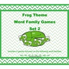 Word Family Games: Frog Theme Set 2