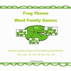 Word Family Games: Frog Theme: Set 3