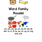 Word Family House at,am,ad,ap,an,ed,et,en,ell,est