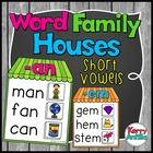 Word Family Houses -at and -an