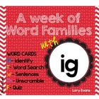 Word Family -IG family