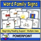 Word Family Literacy PowerPoint