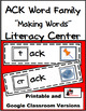 Word Family Making Words Center - ACK Family