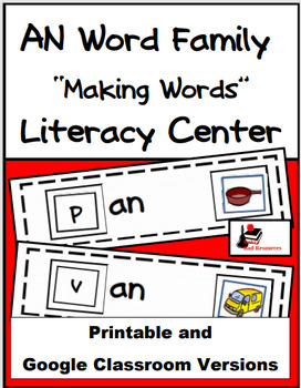 Word Family Making Words Center - AP Family