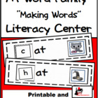 Word Family Making Words Center - AT Family