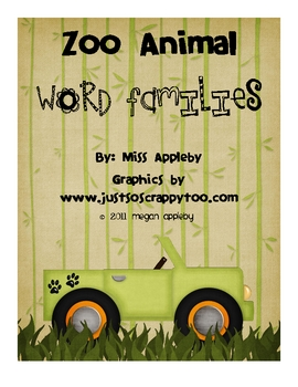 Word Family Mats- Zoo Animals