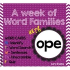 Word Family - ope family