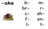 Word Family Posters and Word Work Center (vowel: a)