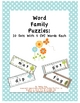 Word Family Puzzles--10 Sets With 5 CVC Words Each