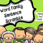 Word Family Sentence Scramble