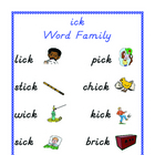 Word Family Set  - ick
