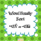 Word Family Sort -at or -an