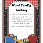 Word Family Sort