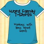 Word Family T-Shirts - Long Vowel Words
