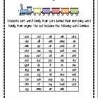Word Family Train Sort