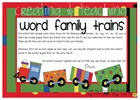 Word Family Trains