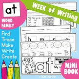 Word Family Week of Writing - at Family - Kinder Printable