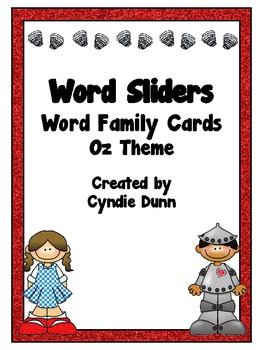 Word Family Word Sliders - Wizard of Oz Theme
