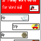 Word Family Word Wall Cards for IP Family with Pictures