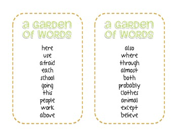 Word Garden - Spelling Frequently Used Words