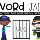 Word Jail---Word Rule Breakers-EDITABLE!