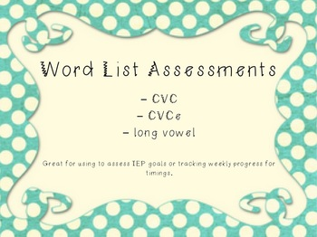 Word List Assessments