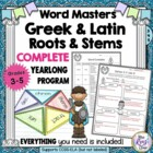 Word Masters Stems and Roots Gr.4-8 Year-Long Vocabulary Program