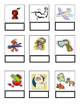 Word Match A File Folder Game Autism