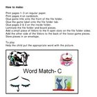 Word Match C File Folder Game Autism
