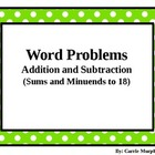 Word Problem Cards Addition and Subtraction to 18