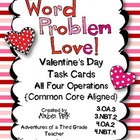 Word Problem Love! Task Cards {Common Core}