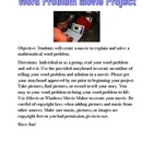 Word Problem Movie Project