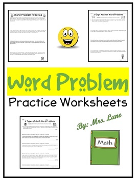 Word Problem Practice Problems (Worksheet) For Elementary