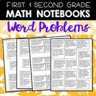 Word Problem Printables for 1-2 Math Journals