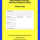 Word Problem of the Day - 200 Word Problems &amp; Charts
