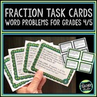 Word Problems: Fractions Grade 4/5 Set 1--Common Core