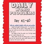Word Problems Made Simple (Days 41-60) + - x /