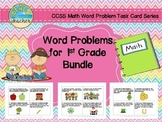 Word Problems for 1st Grade Bundled (TASK CARDS)
