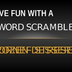 Word Scramble Starter