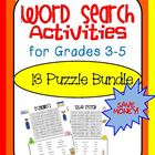 Word Search Activites Bundle for Grades 3-5