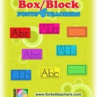 Word Shape Box/Block Fonts