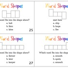 Word Shape Task Cards