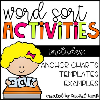 Word Sort Pack for any spelling program