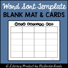 Word Sorting Mat &amp; Card (Template)