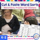Word Sorts - Cut &#039;n Paste and More