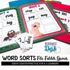 Word Sorts &quot;Out of Sorts?&quot; File Folder Literacy Games