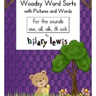 Word Sorts with Pictures -all, -aw, -alk, &amp; -ock Sounds