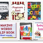 Word Study Binder Buddy and Bundled Games Set (Letter Name Stage)
