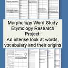 Word Study Etymology Project